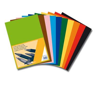 Ecobos webwinkel knutselpapier 120g a4 100 vellen 10 for Gekleurd papier action
