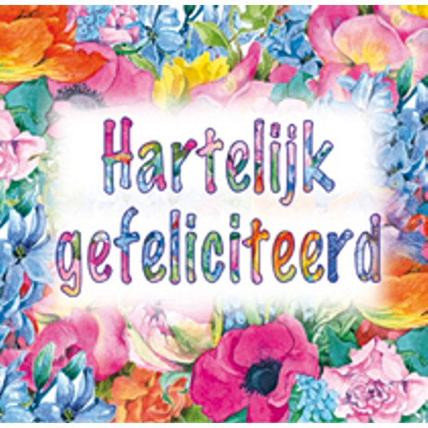gefeliciteerd card Ecobos Shop :: square greeting card mixed flowers