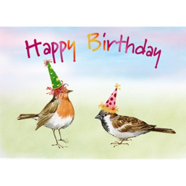 Ecobos Webwinkel Wenskaart Vogels Verjaardag Happy Birthday