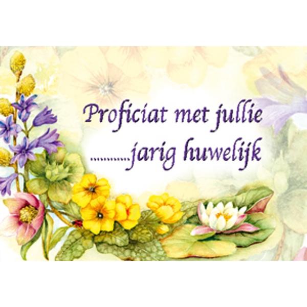 Ecobos webwinkel wenskaart bloemen quot jarig huwelijk