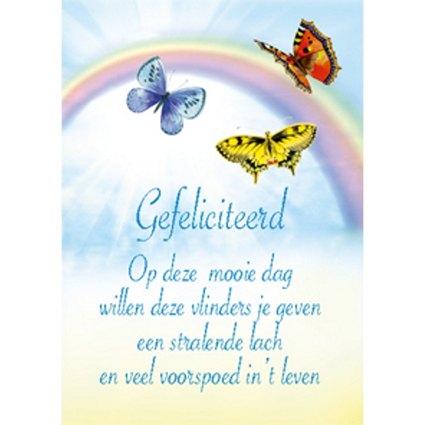 gefeliciteerd card Ecobos Shop :: greeting card slogan butterflies